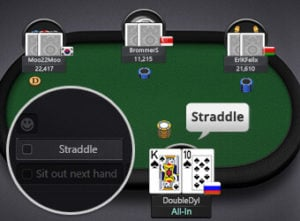 Online Poker Game Features Straddle